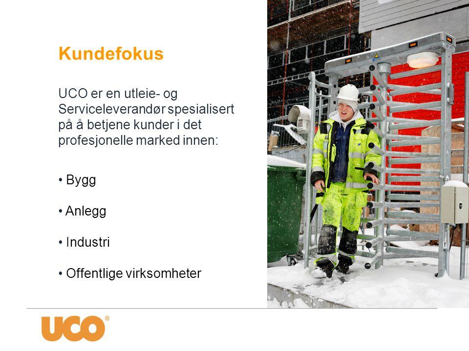 Kundefokus UCO er en utleie- og Serviceleverandør spesialisert på å betjene kunder i det profesjonelle marked innen: