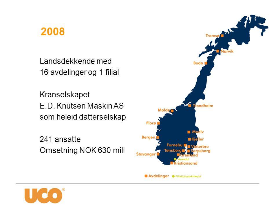 2008 Landsdekkende med 16 avdelinger og 1 filial Kranselskapet