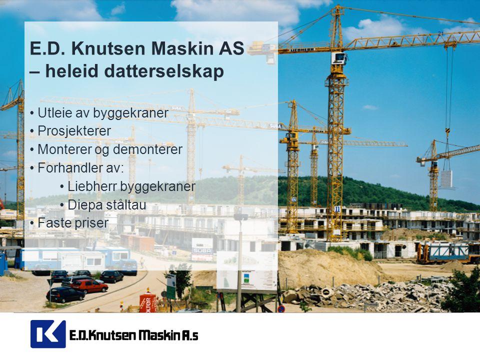 E.D. Knutsen Maskin AS – heleid datterselskap