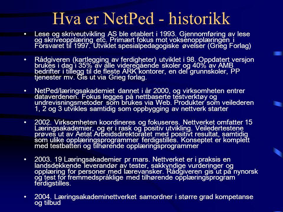 Hva er NetPed - historikk