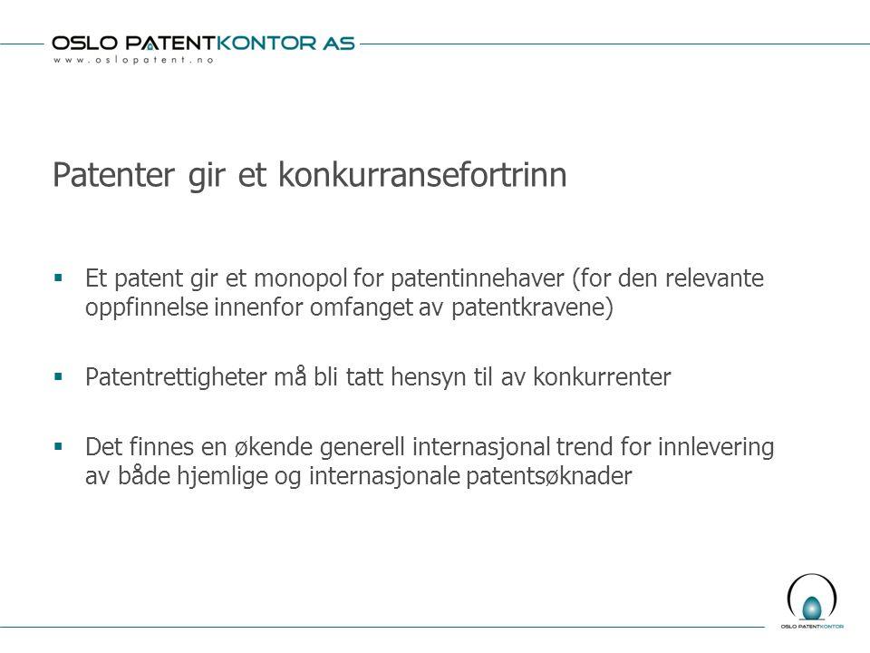 Patenter gir et konkurransefortrinn