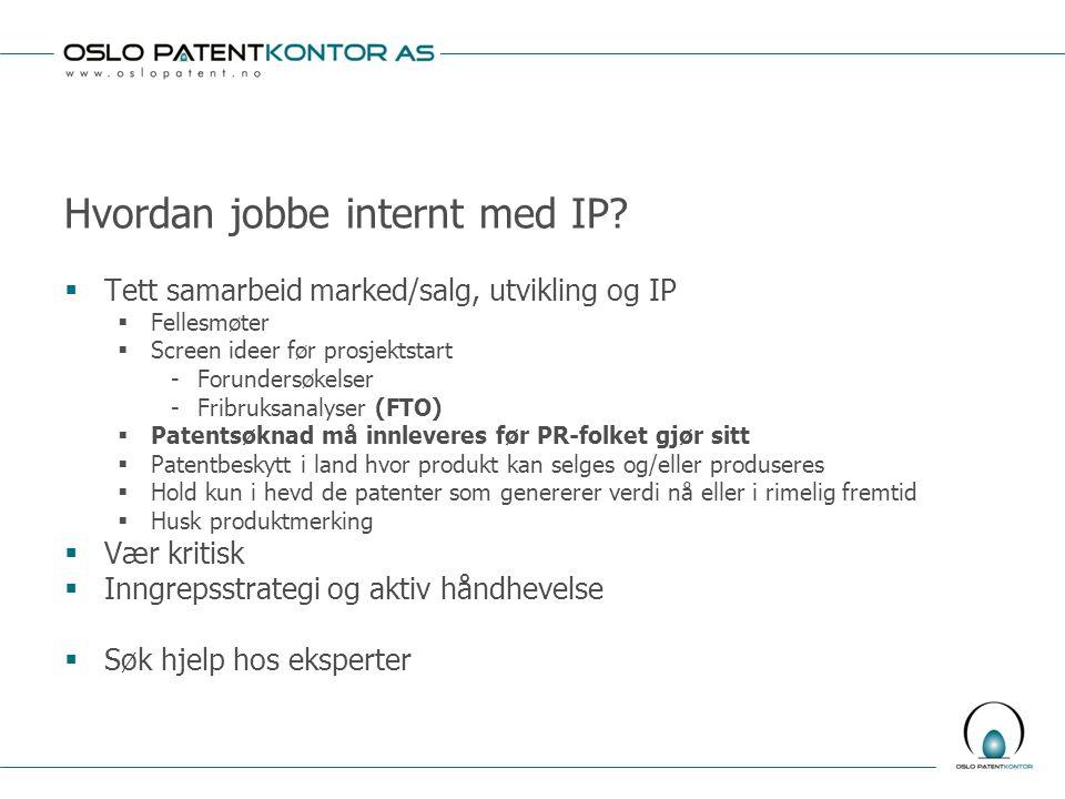Hvordan jobbe internt med IP