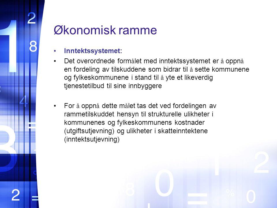 Økonomisk ramme Inntektssystemet:
