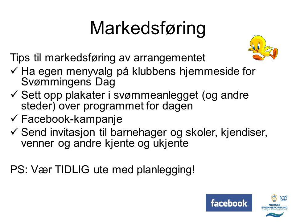 Markedsføring Tips til markedsføring av arrangementet