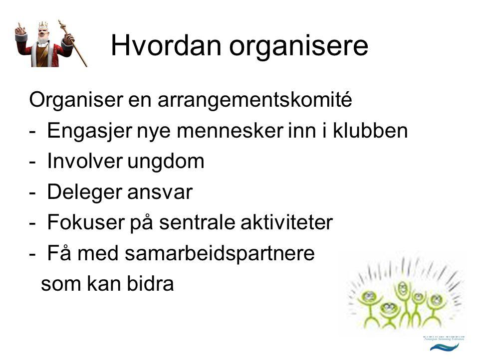 Hvordan organisere Organiser en arrangementskomité