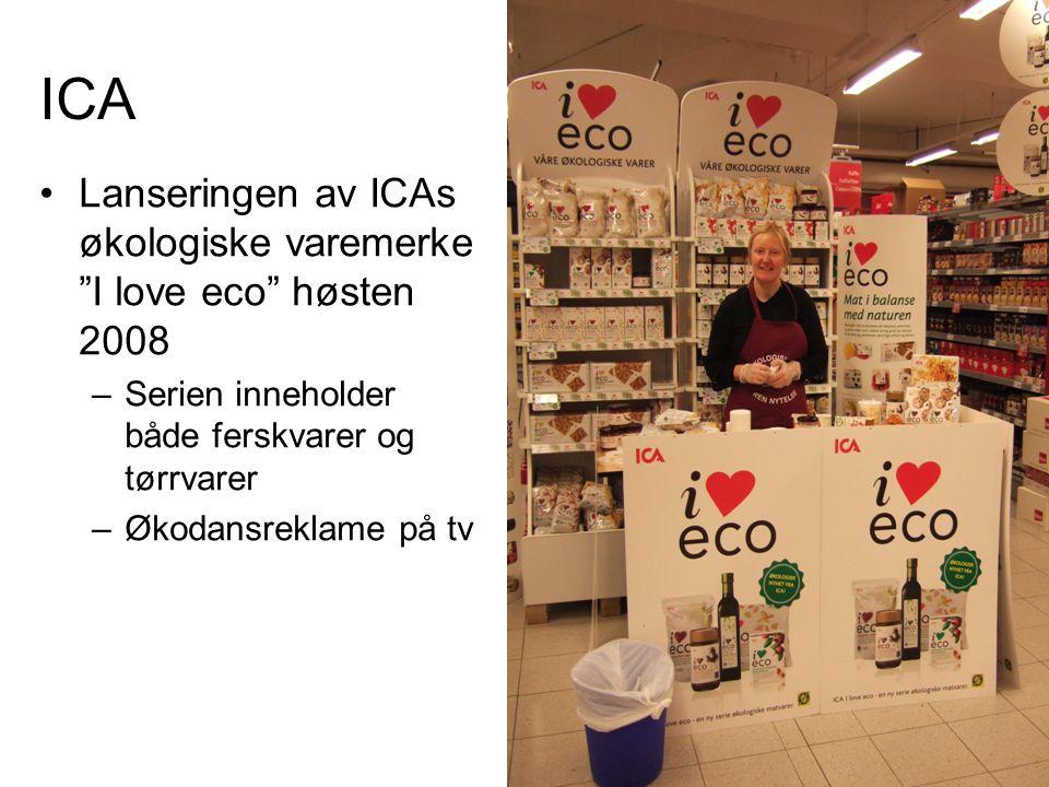 ICA Lanseringen av ICAs økologiske varemerke I love eco høsten 2008