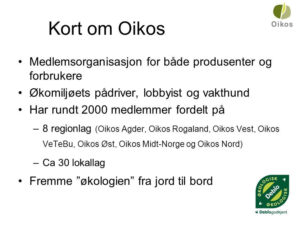 Kort om Oikos Medlemsorganisasjon for både produsenter og forbrukere