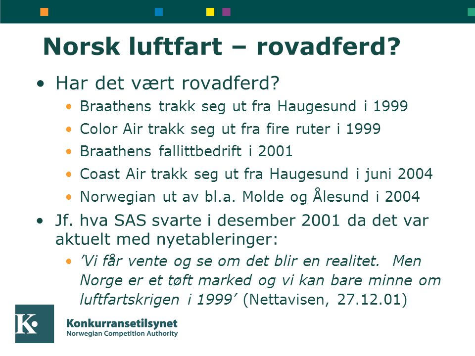 Norsk luftfart – rovadferd