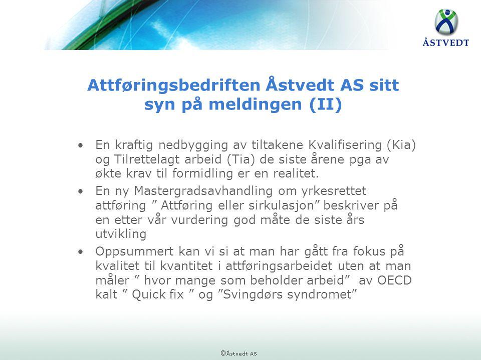 Attføringsbedriften Åstvedt AS sitt syn på meldingen (II)