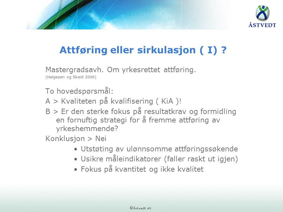 Attføring eller sirkulasjon ( I)