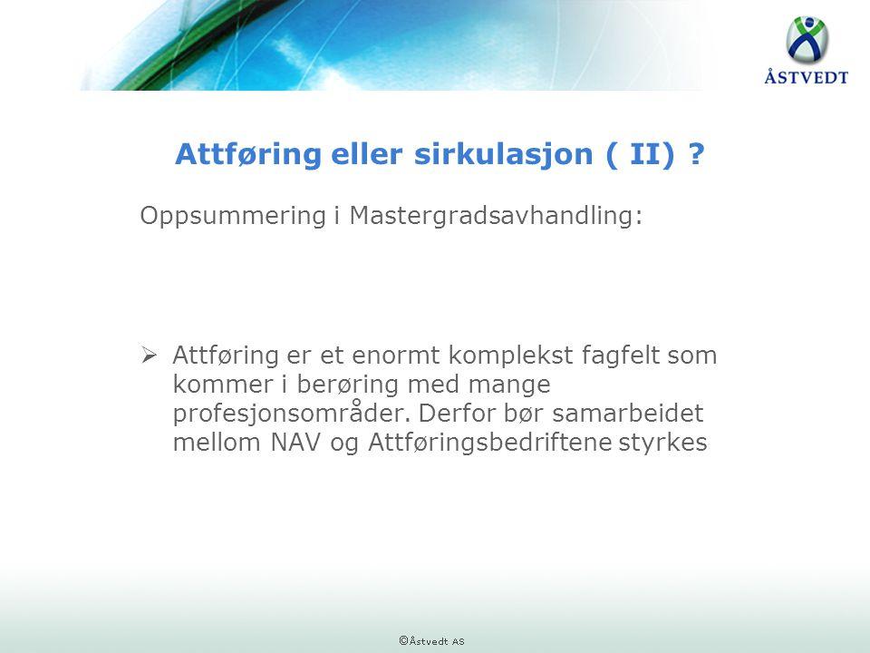 Attføring eller sirkulasjon ( II)