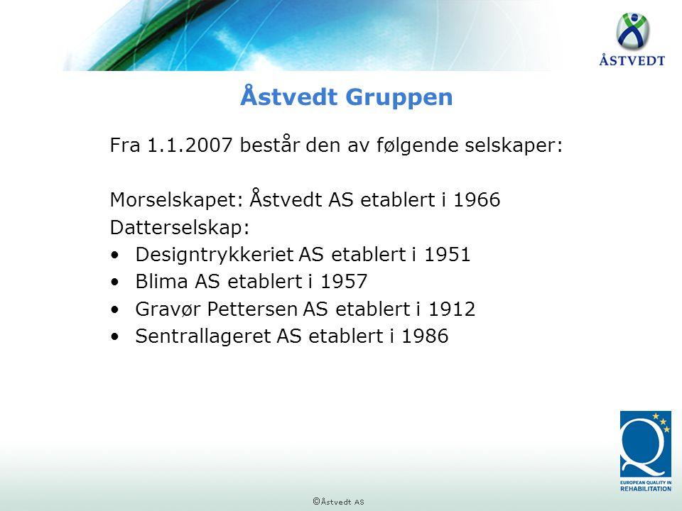 Åstvedt Gruppen Fra 1.1.2007 består den av følgende selskaper: