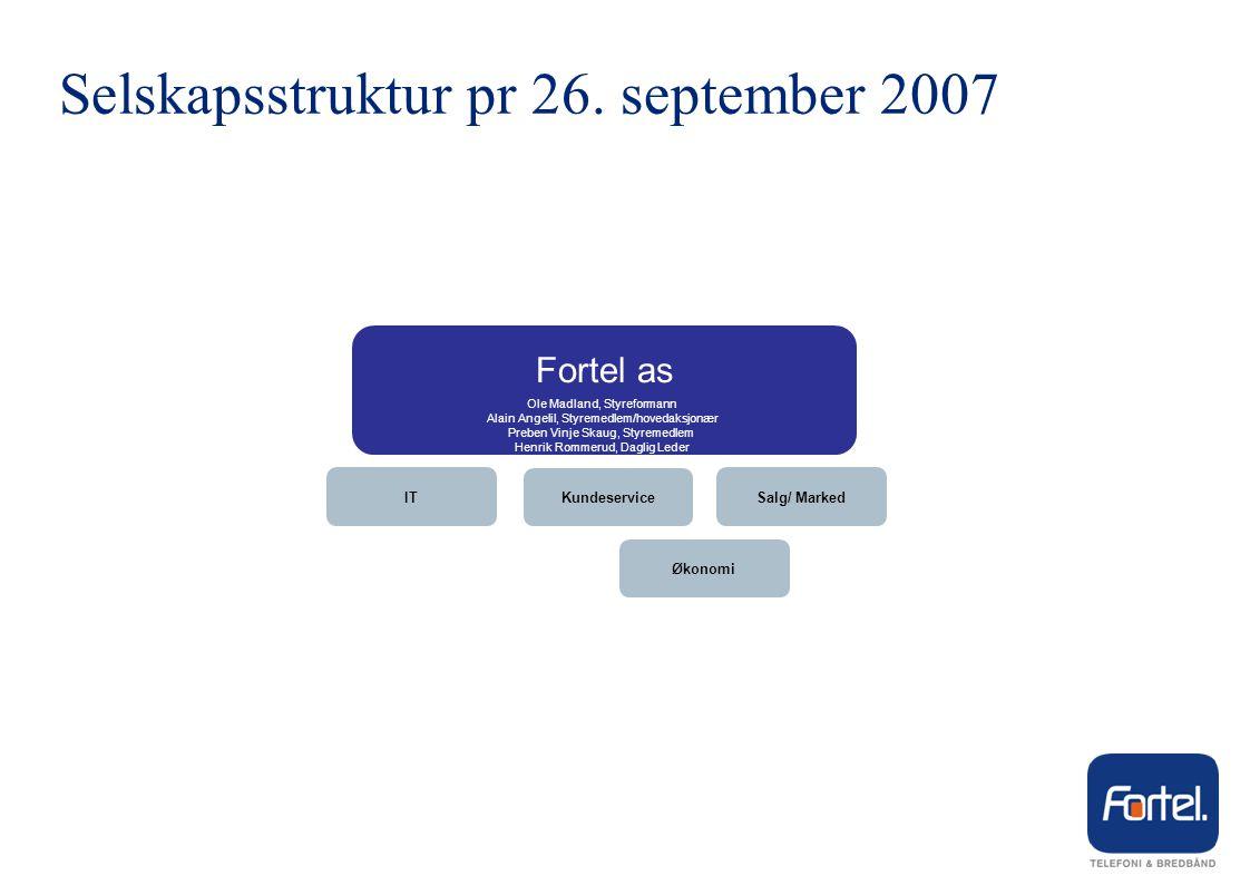 Selskapsstruktur pr 26. september 2007