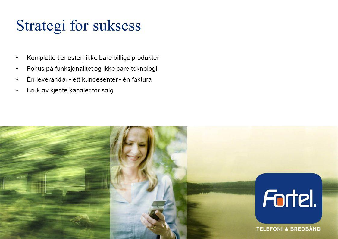 Strategi for suksess Komplette tjenester, ikke bare billige produkter