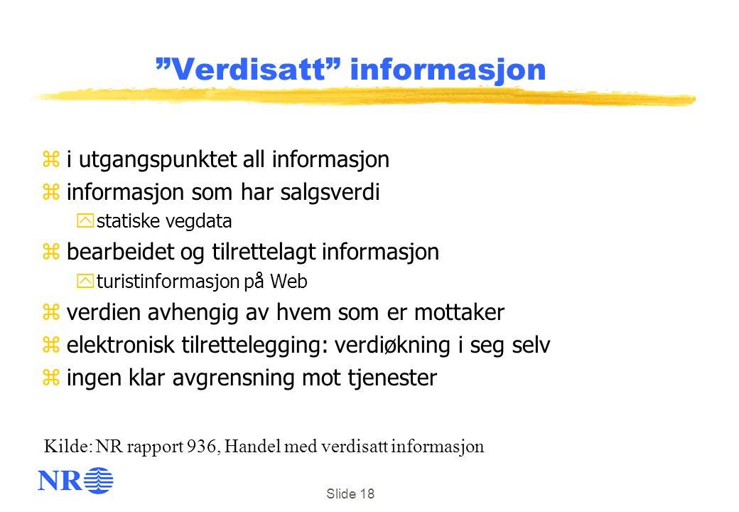Verdisatt informasjon