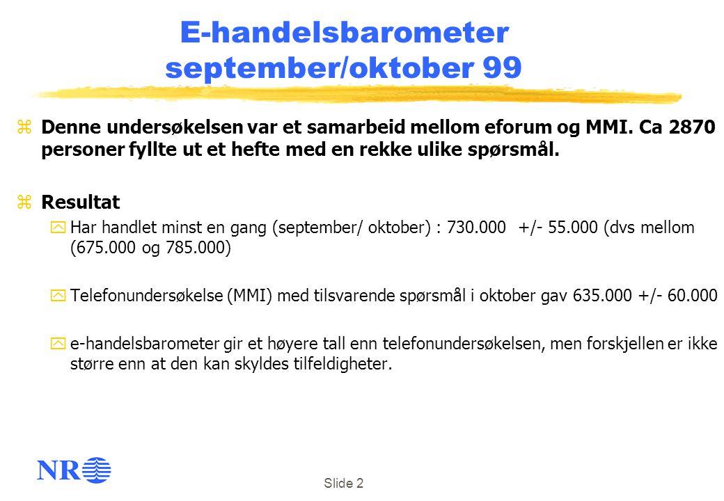 E-handelsbarometer september/oktober 99