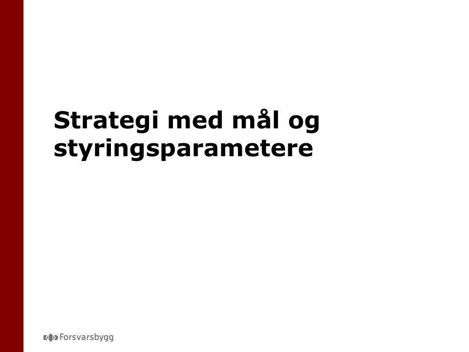 Strategi med mål og styringsparametere
