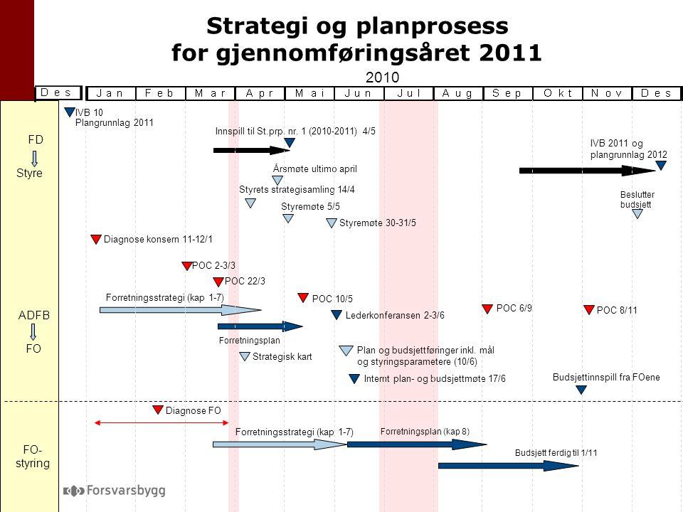 Strategi og planprosess for gjennomføringsåret 2011