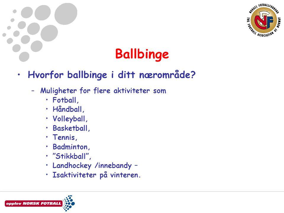 Ballbinge Hvorfor ballbinge i ditt nærområde