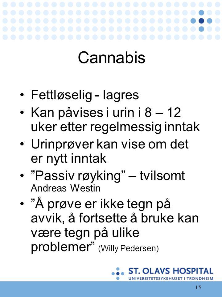 Cannabis Fettløselig - lagres