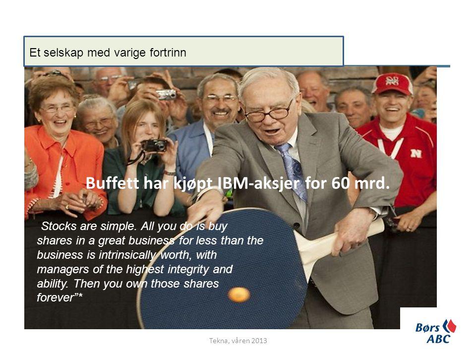 Buffett har kjøpt IBM-aksjer for 60 mrd.