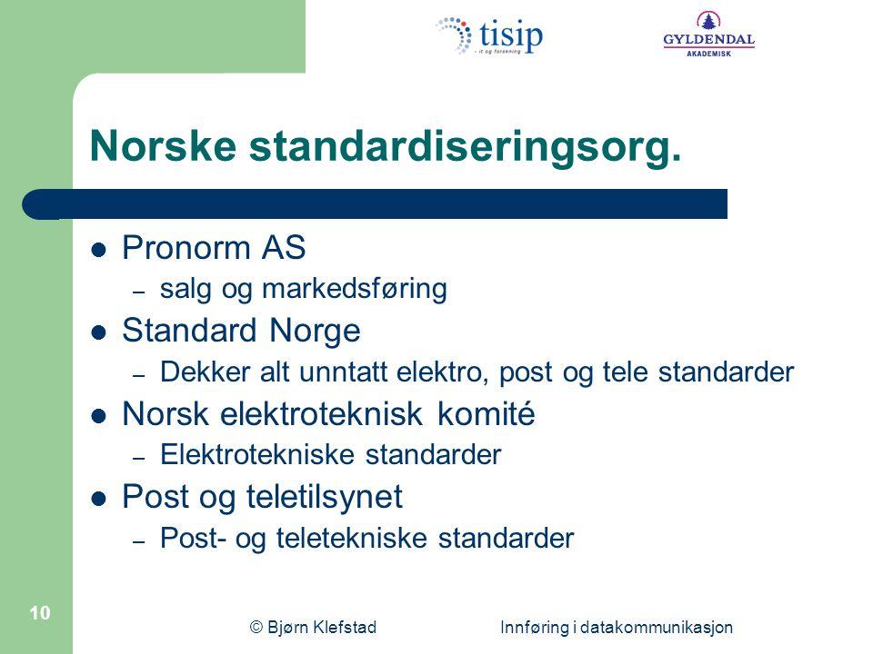Norske standardiseringsorg.