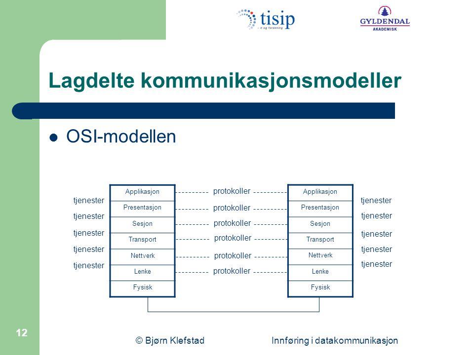 Lagdelte kommunikasjonsmodeller