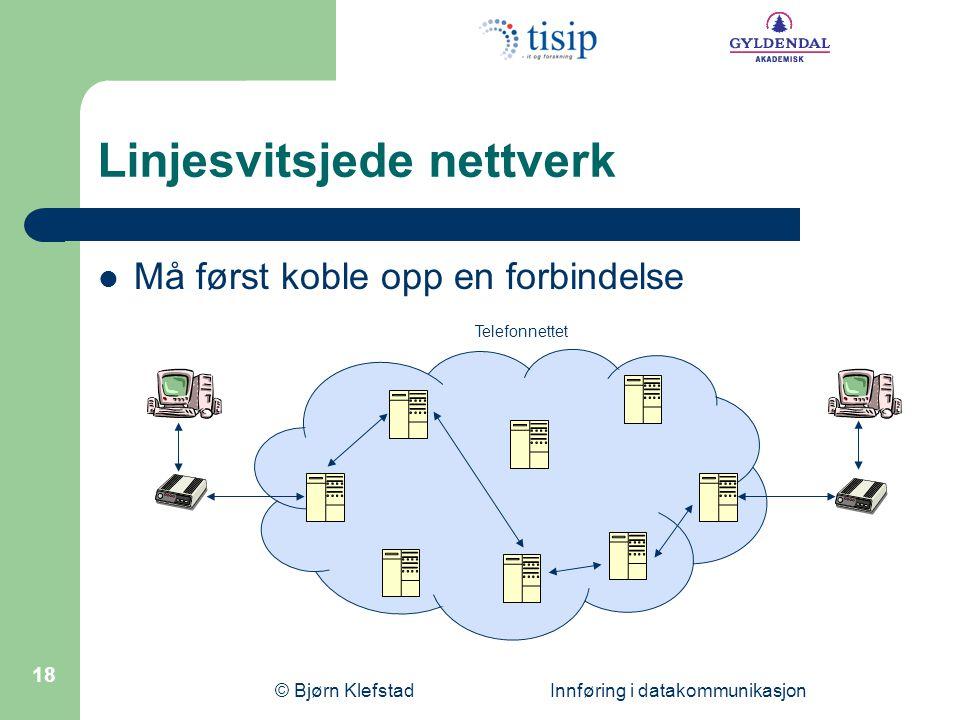 Linjesvitsjede nettverk