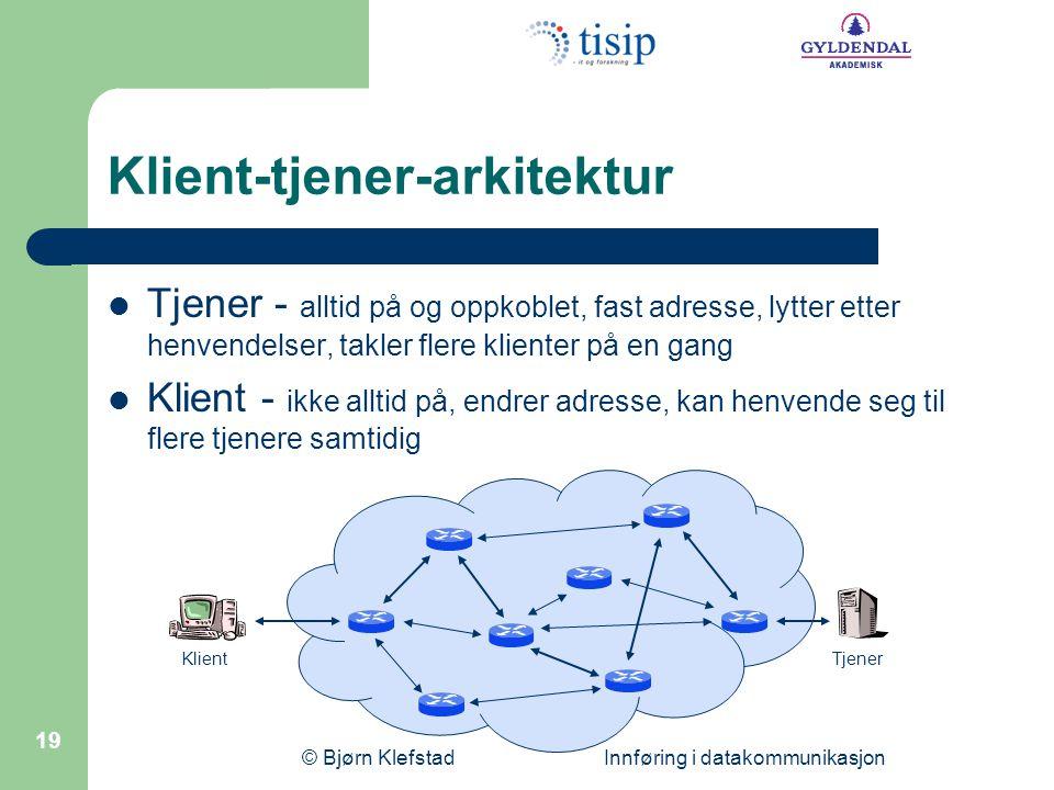 Klient-tjener-arkitektur