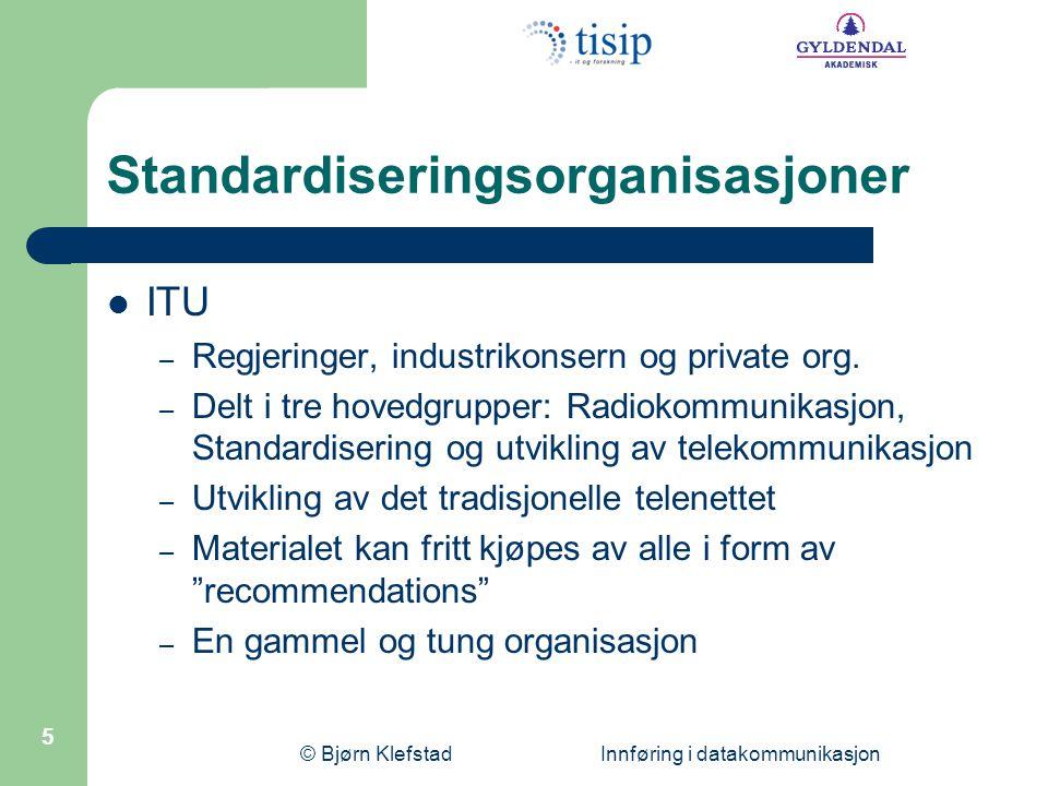 Standardiseringsorganisasjoner