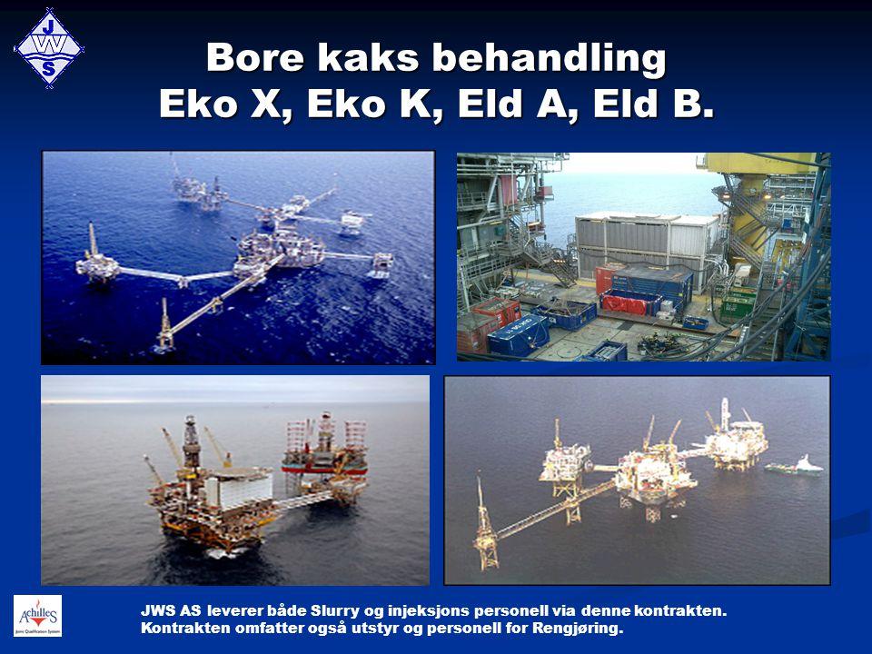 Bore kaks behandling Eko X, Eko K, Eld A, Eld B.