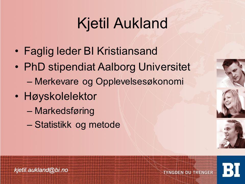 Kjetil Aukland Faglig leder BI Kristiansand