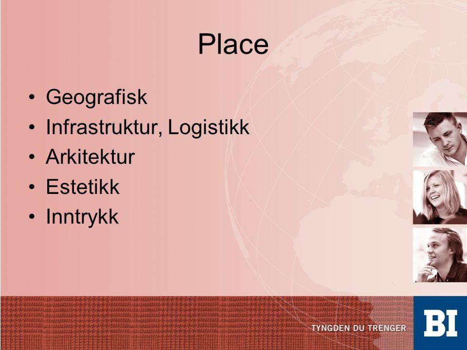Place Geografisk Infrastruktur, Logistikk Arkitektur Estetikk Inntrykk