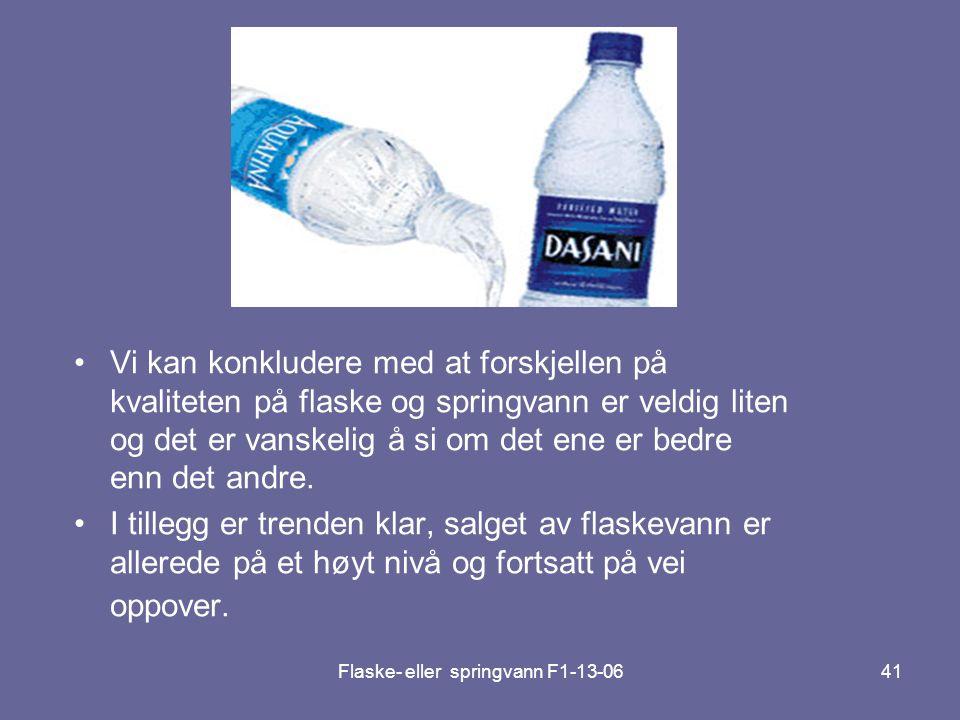 Flaske- eller springvann F1-13-06