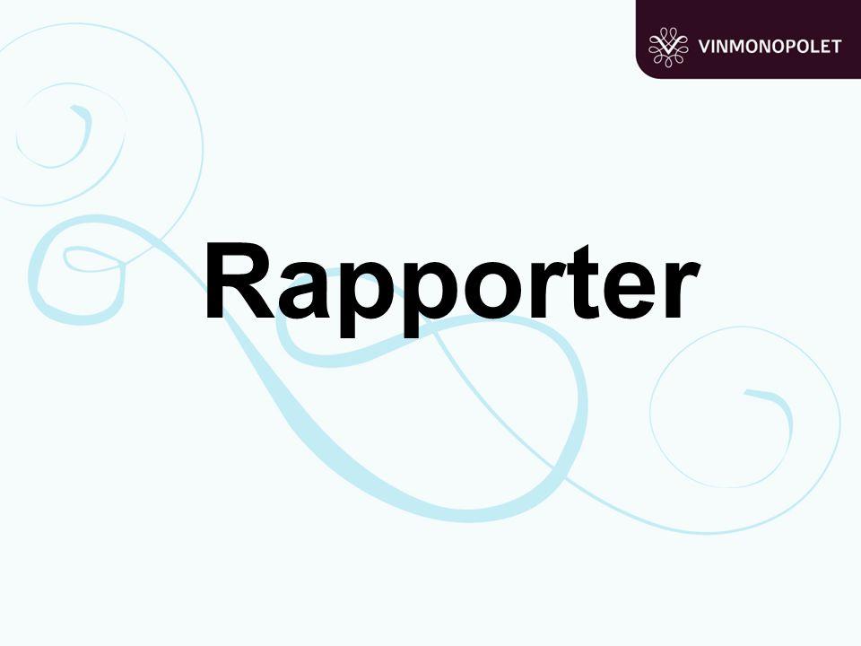 Rapporter Rapporter: Gjøre demo og løse oppgaver: