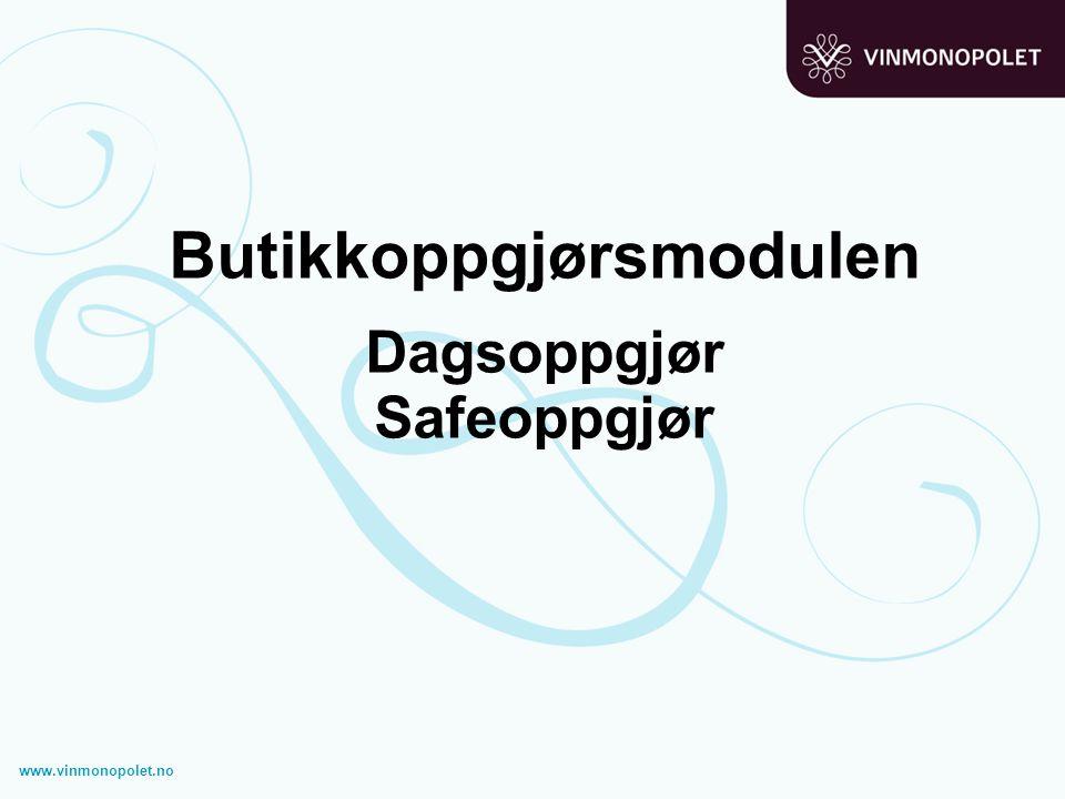 Butikkoppgjørsmodulen Dagsoppgjør Safeoppgjør