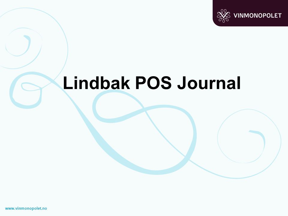Lindbak POS Journal www.vinmonopolet.no