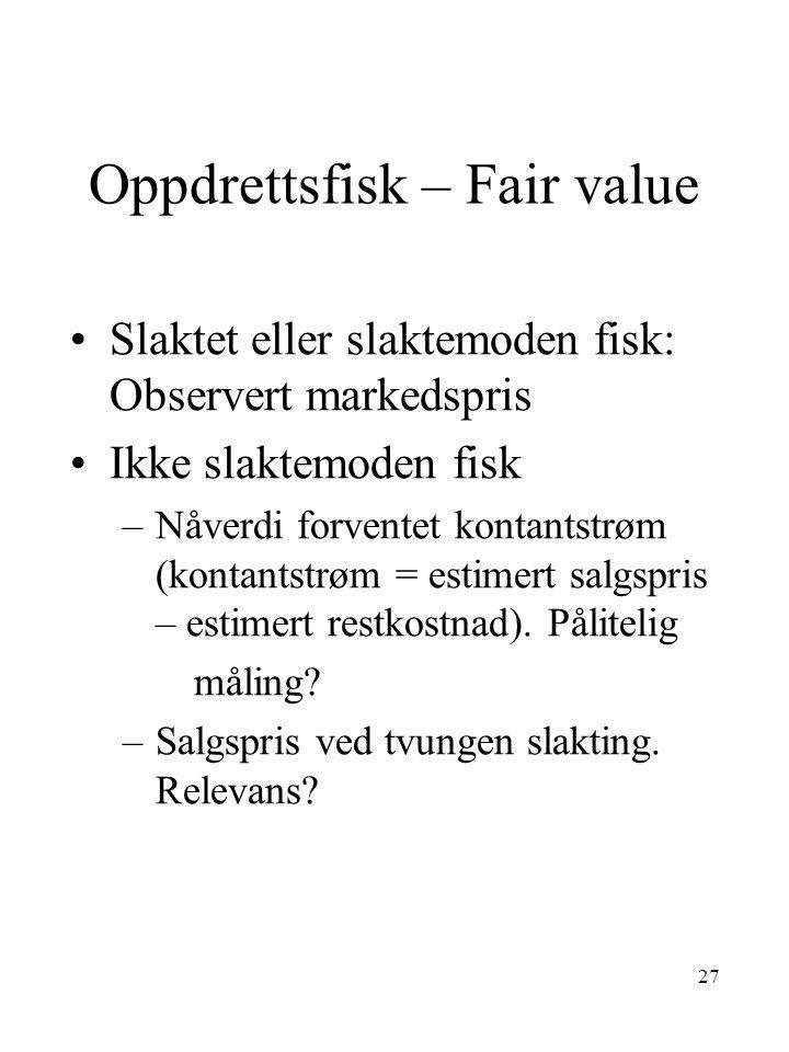 Oppdrettsfisk – Fair value