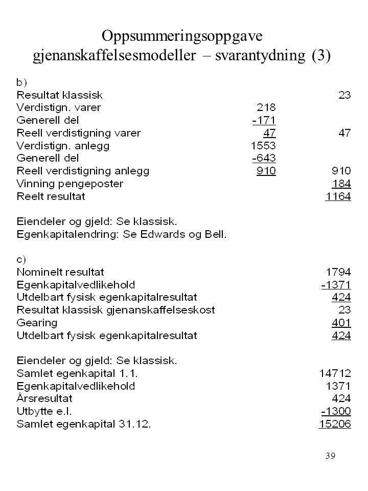 Oppsummeringsoppgave gjenanskaffelsesmodeller – svarantydning (3)