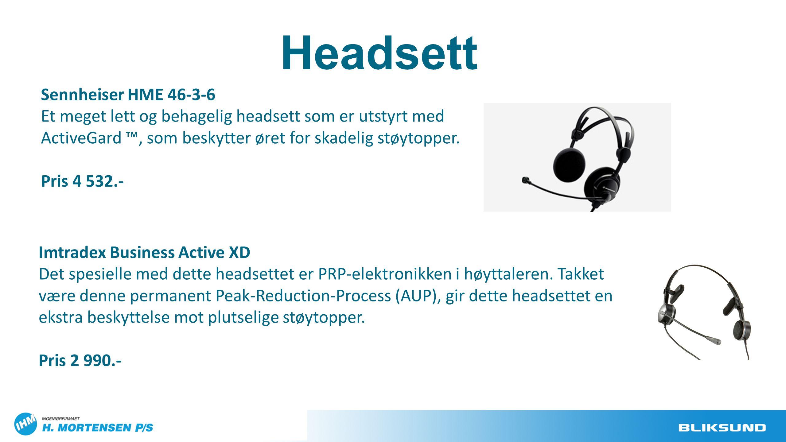 Headsett Sennheiser HME 46-3-6