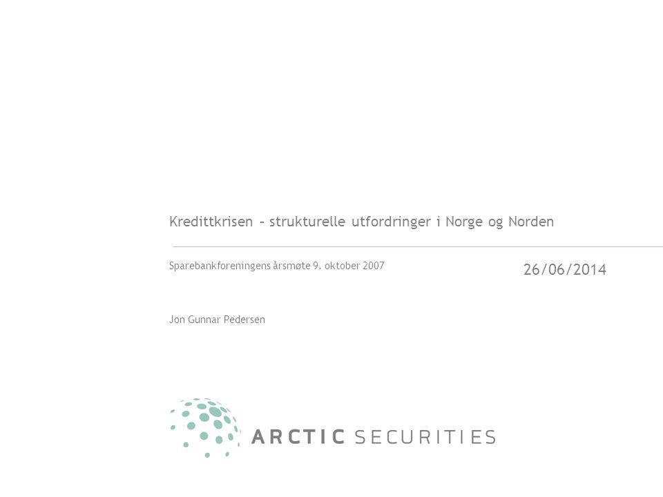 Kredittkrisen – strukturelle utfordringer i Norge og Norden