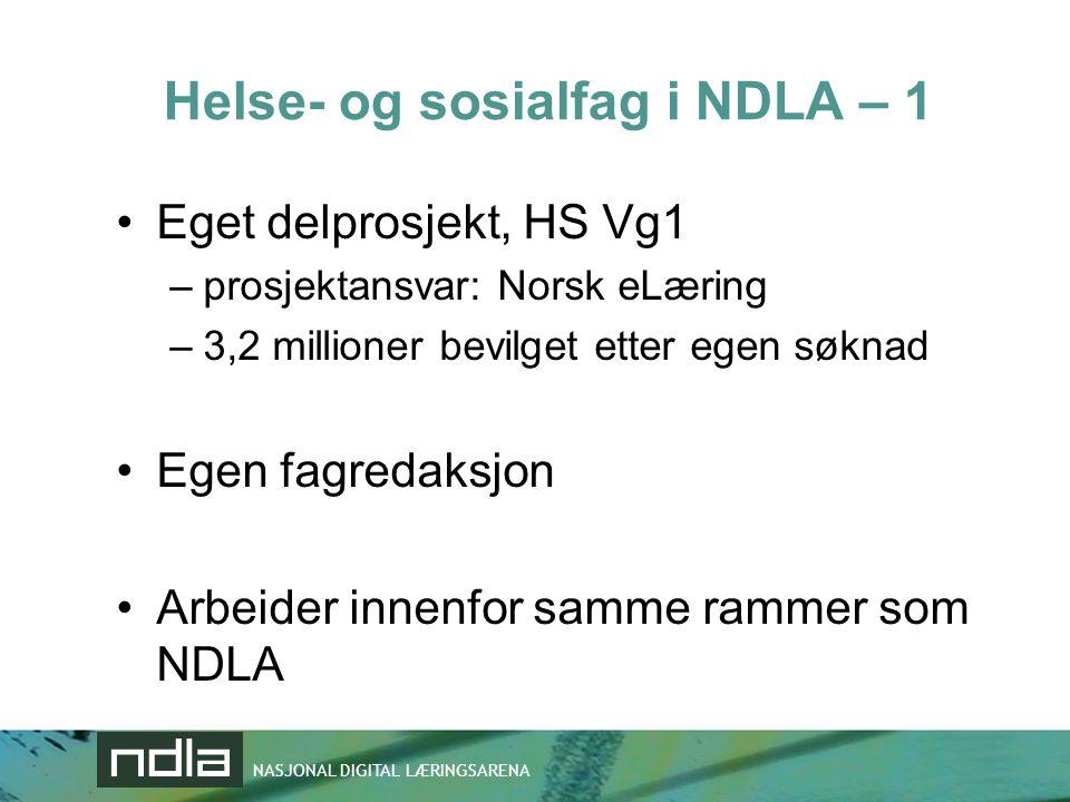 Helse- og sosialfag i NDLA – 1