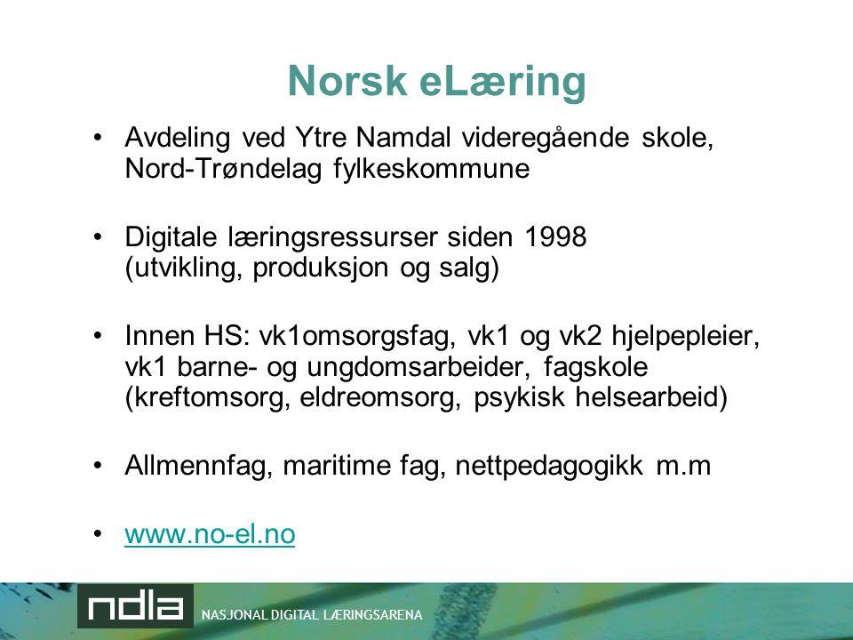 Norsk eLæring Avdeling ved Ytre Namdal videregående skole, Nord-Trøndelag fylkeskommune.