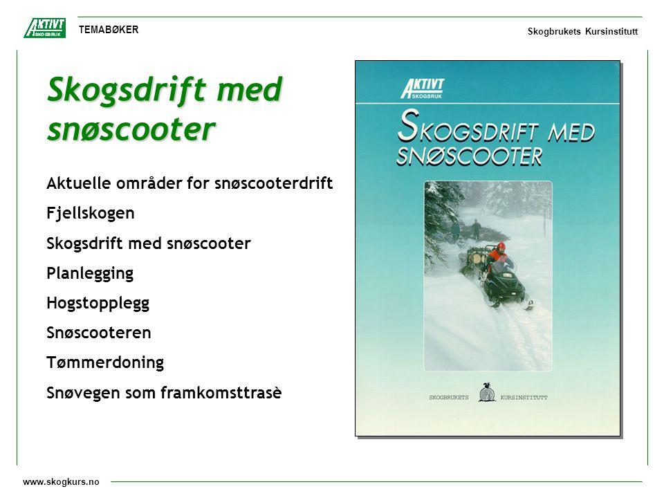 Skogsdrift med snøscooter