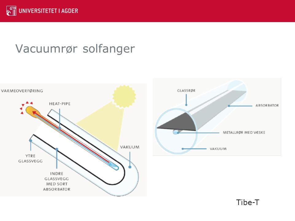 Vacuumrør solfanger Tibe-T