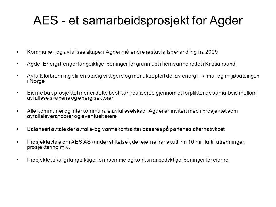 AES - et samarbeidsprosjekt for Agder