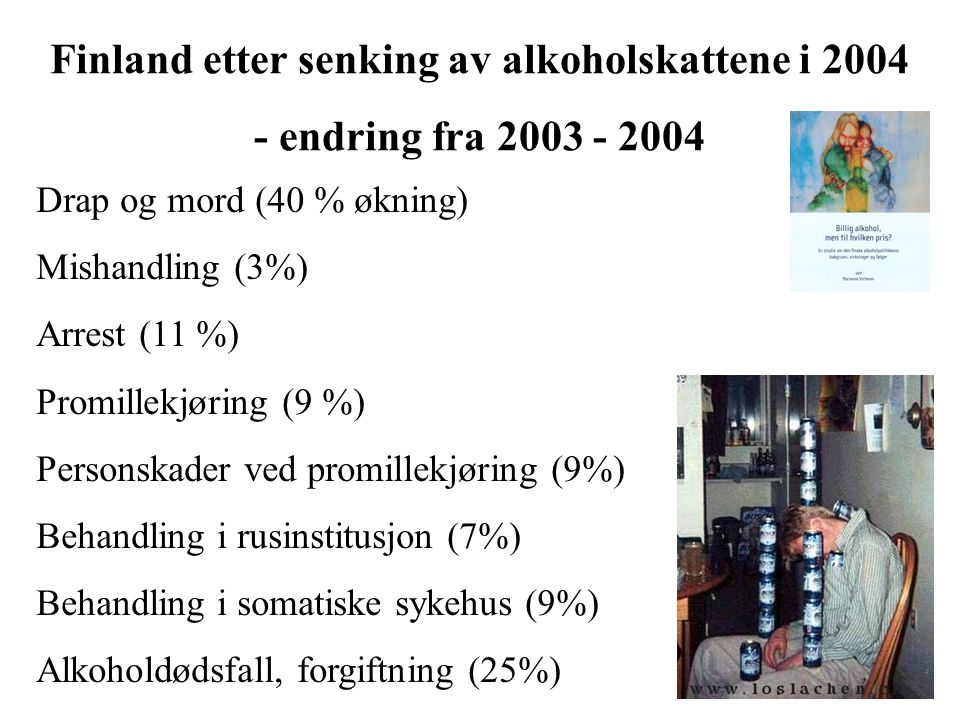 Finland etter senking av alkoholskattene i 2004