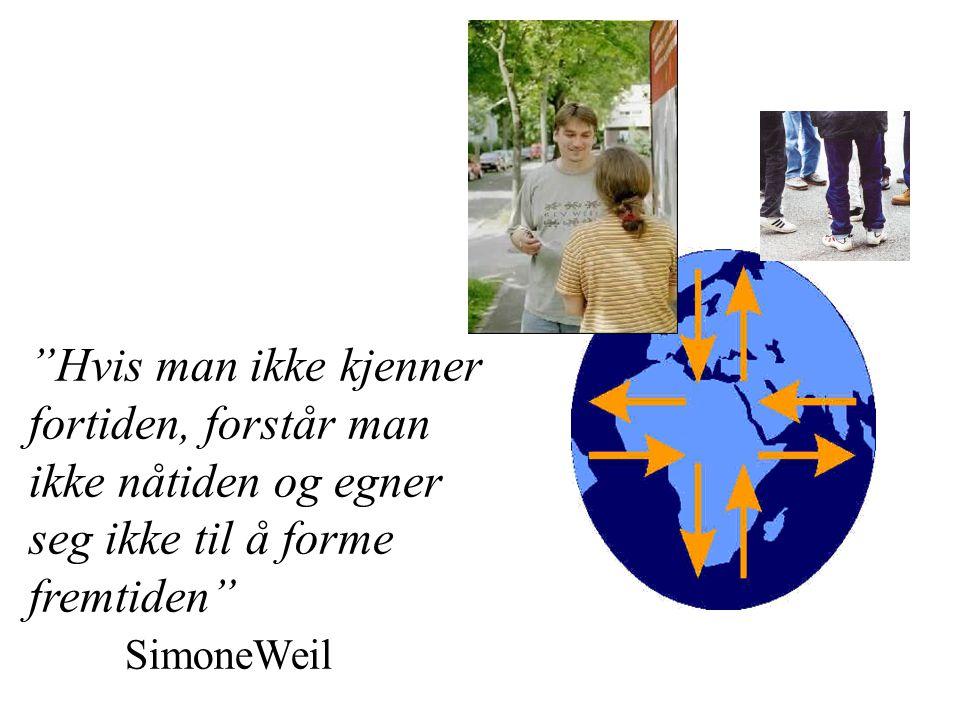Hvis man ikke kjenner fortiden, forstår man ikke nåtiden og egner seg ikke til å forme fremtiden SimoneWeil