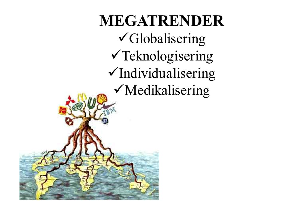 MEGATRENDER Globalisering Teknologisering Individualisering