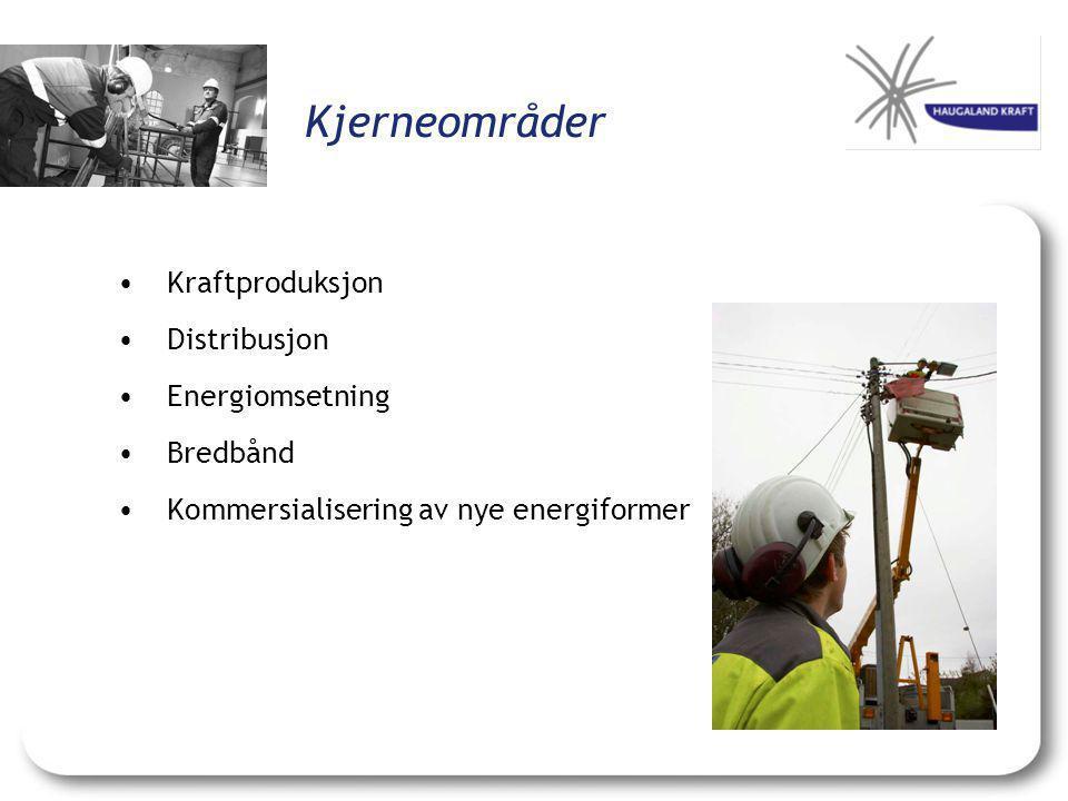 Kjerneområder Kraftproduksjon Distribusjon Energiomsetning Bredbånd